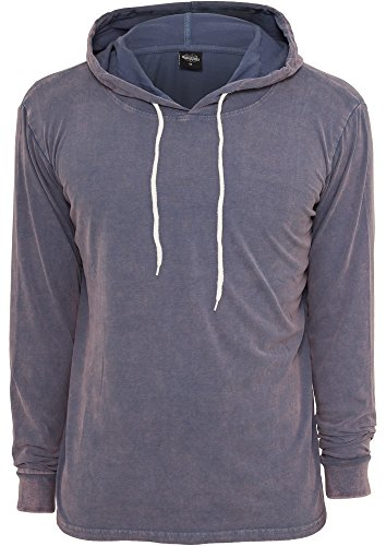 Heavy Peached Hoody Blau