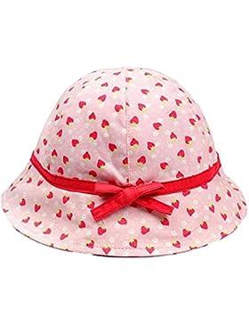 Roffatide Niño Niña Impresión de Fresas Algodón Sombreros de Pescador Sombrero de Sol Verano Outdoor Protector...