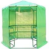 Invernadero Caseta acero 194x194x225 cm 10 Estantes jardin terraza cultivo flores plantas