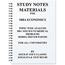 Amazon sourav sirs classes books study notes materials for mba economics 500 solved numericals model solved papers topic wise analysis fandeluxe Gallery
