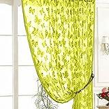 Gowind6 Vorhang Fadenvorhang Türvorhang Fenster Schmetterling Muster Quaste Fadenvorhang Zimmervorhang grün