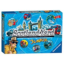 Ravensburger UK 21258 Ravensburger Scotland Yard Junior Family Strategy Board Game for Kids Age 6 and Up-The Hunt for Mr X