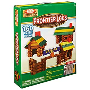 Ideal 160Stück Frontier Logs Classic Wood Building Set