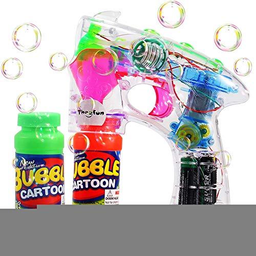 Ydq Seifenblasenpistole, Mit Bunter LED-Beleuchtung Inkl Sound | FlüSsigkeit Seifenblasenmaschine Bubble Gun FüR Kinder Hochzeit Geschenk (Bubble Guns Für Hochzeiten)