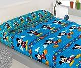 SABANA INFANTIL DE INVIERNO PIRINEO MICKEY MOUSE cama de 105 - Encimera + sábana bajera ajustable +...