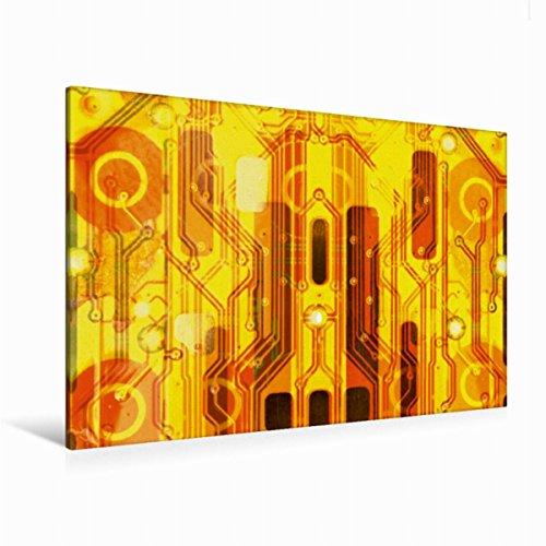 Strukturierte Leinwand Kunst (Premium Textil-Leinwand 120 cm x 80 cm quer Kirche auf goldenem Hintergrund | Wandbild, Bild auf Keilrahmen, Fertigbild auf echter Leinwand, ... macht sich immer gut. (CALVENDO Technologie))