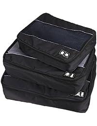 Conjunto de bolsas de embalaje Cubo de viaje equipaje (Small-Large) para, accesorios de equipaje maleta y Backpacking–durable 3piezas Fin de Semana