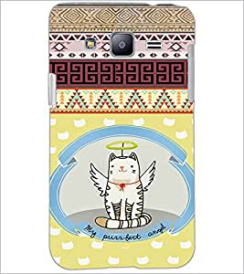 PrintDhaba Angel Cat D-4625 Back Case Cover for SAMSUNG GALAXY J2 (Multi-Coloured)