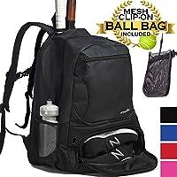 Athletico Premier Tennis-Rucksack - Tennistasche für 2 Schläger im gepolsterten Fach, Separates belüftetes Schuhfach, Tennis-Taschen für Damen und Herren