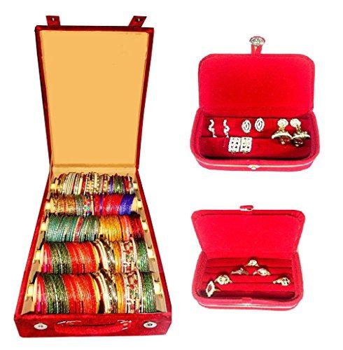 Atorakushon Combo Deal 5 Roll Rod Bangles Box 1 Earring Box Ring...