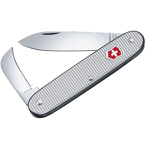 Victorinox Taschenmesser Swiss Army 2 Alox (Alox Schalen, Grosse Klinge, Hakenklinge) silber -