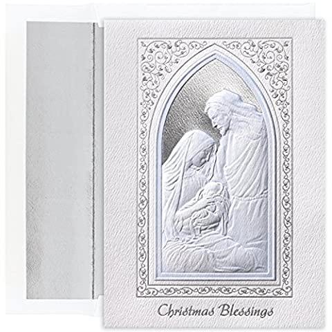 Masterpiece Studios Century Boxed Christmas Blessings Window Greetings, 16 Cards/Lined