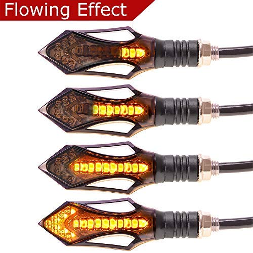 Evermotor Universal Motorcycle Flowing LED clignotants Indicateurs 4 Pcs Waterproof Séquentiel Exécution Blinker