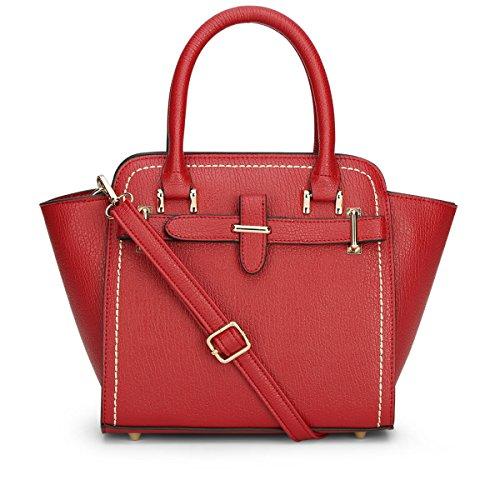 Dissa® S751 Damen 2018 Mode PU Schultertaschen,Umhängetaschen,Henkeltaschen,35.5x22x13(BxHxT) Rot