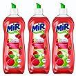 Mir Vaisselle - Liquide Vaisselle Main - Secrets de Vinaigre Framboise - Flacon 750 ml - Lot de 3