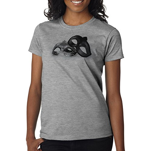 Fifty Shades Of Grey Movie Fsog Masks Background Damen T-Shirt Grau