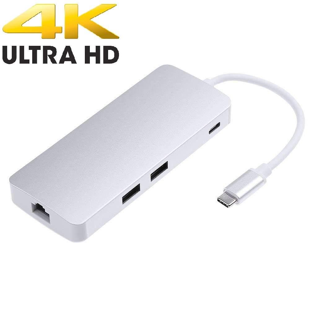 Tavakkal® New USB C Hub, Type C Adapter with HDMI Port + VGA Port + ...