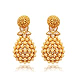 Ratnakar Gold top with pearl & stone ear...
