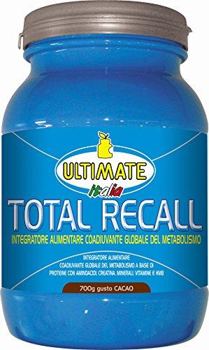 Ultimate italia - total recall - tutto in un unico integratore - 700 g - gusto cacao