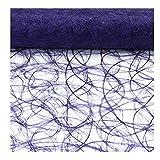 Sizoweb Tischband Lila 25 Meter lang 20cm breit