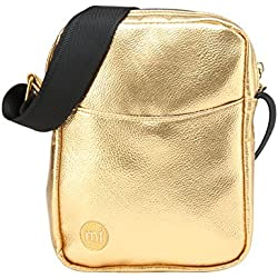 Mi-Pac Gold Flight Bag Bolso Bandolera, 21 cm, 1.7 Litros, Metallic Gold
