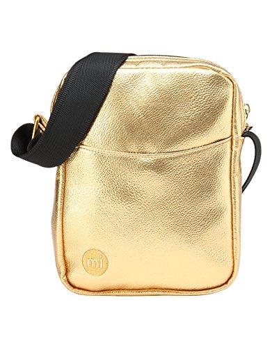 Mi-Pac Gold Flight Bag Bolso Bandolera, 21 cm, 1.7 Litros, Metallic Gold