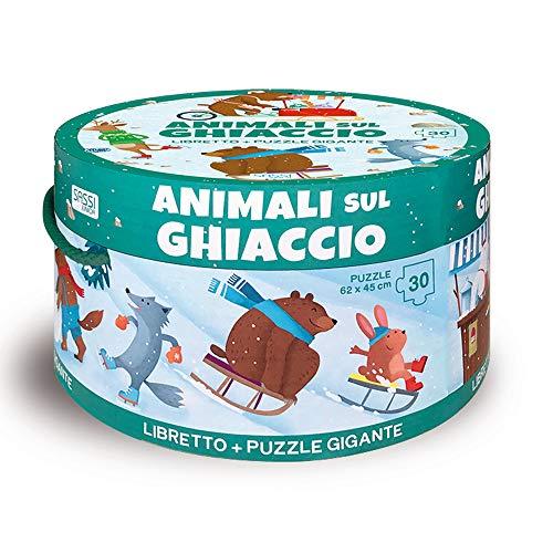 Animali sul ghiaccio. Ediz. illustrata. Con puzzle
