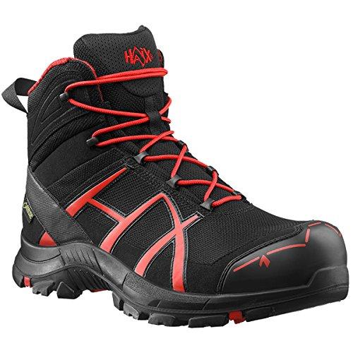 HAIX Black Eagle Safety 40 Mid black/red Praktische Arbeitskleidung: Sicherheitsschuhe für Handwerker. 43 Rot