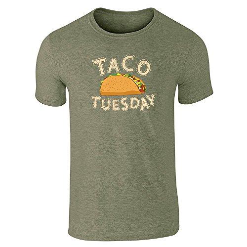 pop-threads-mens-taco-tuesday-heather-military-green-l-short-sleeve-t-shirt