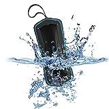 Rockpals Bluetooth Lautsprecher Wasserdicht Dual-Treiber 2* 5W Sport Lautsprecher Stereo mit Powerbank 4000 mAh Mehr als 10 Stunden Laufzeit Outdoor Musik Speaker Portabel Staubdicht Blau