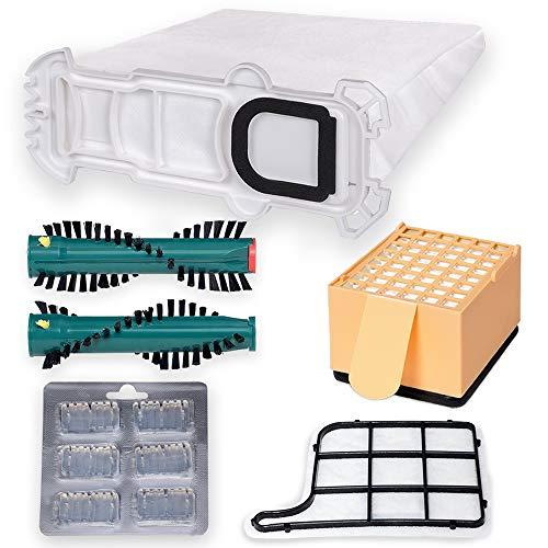 24 Premium Staubsaugerbeutel Sparset - Hygienisches Synthetikmaterial - Perfekt angepasst für Vorwerk Kobold 135 EB 351 - Bestleistung beim Saugen - Hochwertige Qualität