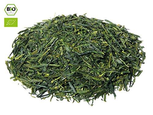 Japanischer Grüner Tee Sencha Konomi, BIO-zertifiziert, Super-Premium. 100 g, lose, nicht aromatisiert. Aus kleinem Tee-Garten Präfektur Shizuoka. Dunkelgrüne, feine Blätter, intensives Aroma, frisch und spritzig. Direkt aus Japan