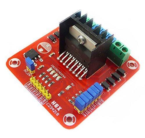 easyword Mall L298N 2fasi DC Modulo Scheda Di Controllo Driver Del Motore Passo-Passo Per Arduino Smart Auto - Modulo Di Controllo Del Motore
