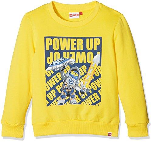 LEGO Wear Jungen Lego Boy Nexo Knights Sebastian 102-Sweatshirt, Gelb (Yellow 233), 128