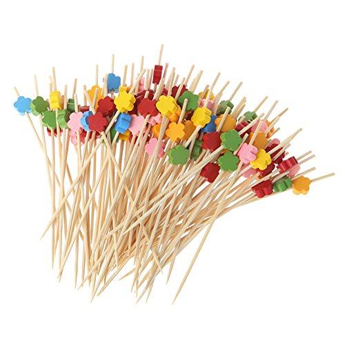 scrox handgefertigt Cocktail Sticks Picks 100zählt Zahnstocher aus Holz für Knabberzeug Tapas Sandwich Canapés Vorspeisen Herz (Style 8)