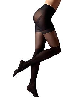 Calzedonia Femme Collant Total Shaper effet chaussettes hautes longuette  effet gainant e6d51001d7b