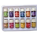 BOBORA Set de 12 Huiles Essentielles pour Soins de la Peau Massage Aromathérapie