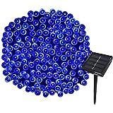 Yasolote 22M Guirlande Solaire 200 LED 8 Jeux de Lumière Guirlande Lumineuse Idéal pour la Décoration de Fête, Mariage, Anniversaire et Jardin Extérieur (Bleu)