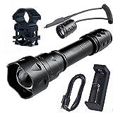 Linterna IR con foco ajustable UniqueFire UF-T20 de 850 nm