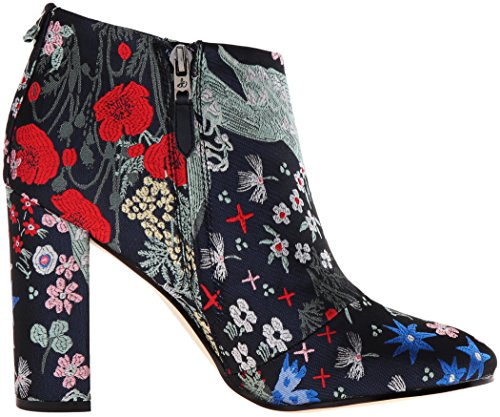 Sam Edelman Damen Cambell Kurzschaft Stiefel Grey (Grey Multi Floral Garden Jacquard)