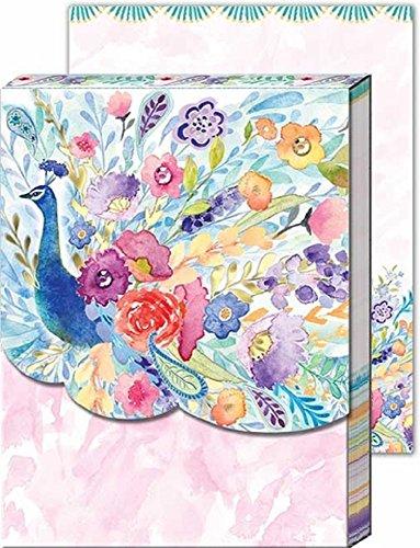 Punch Studio Stationery Words Of Wisdom Pocket Note Pad-Floral Pfau -