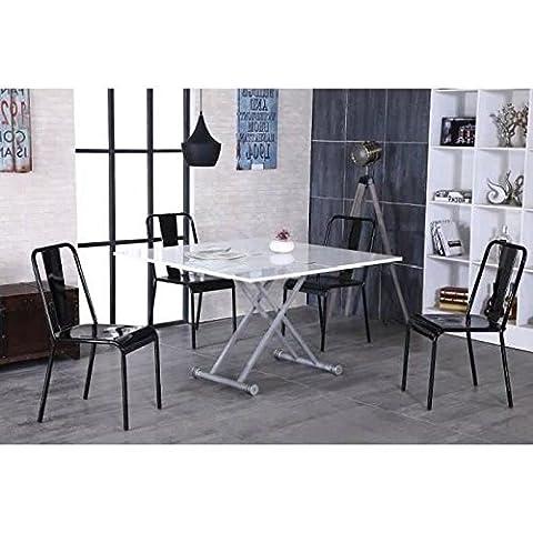 UPPER Table relevable et extensible laquée