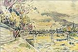Poster 30 x 20 cm: Pont Neuf, Paris von Paul Signac/akg-Images - Hochwertiger Kunstdruck, Neues Kunstposter
