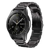 SUNDAREE Kompatibel mit Galaxy Watch 42MM Armband,20MM Metallarmband Armband Edelstahl Uhrenarmband Ersatz für Samsung Galaxy Watch 42MM SM-R810/Samsung Gear Sport/Gear S2 Classic(42 Schwarz)