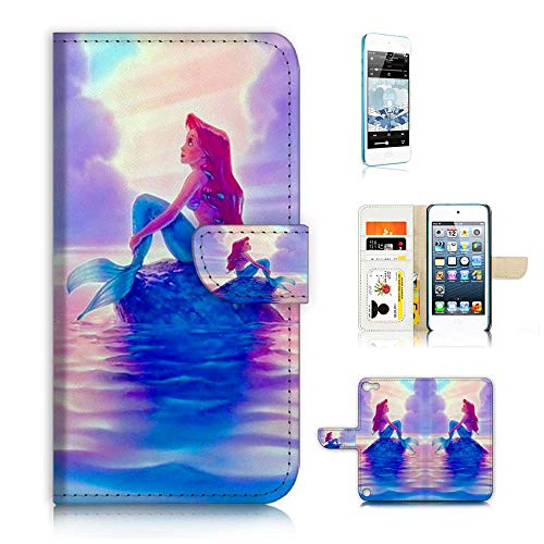 (für iPod Touch 56/iTouch 56) Flip Schutzhülle Bundle Hülle & Displayschutzfolie, A21517Little Mermaid Ariel Ipod Bundle