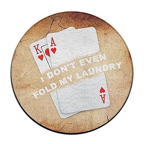Poker Ich Nicht Einmal Falz My Laundry Funny Karte Player Texas Hold Em Anti-Rutsch-Matten Zirkular Teppich Mats Esszimmer Schlafzimmer Teppich Fußmatte (Hawaiianische Ananas)