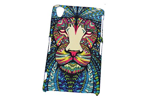 Aztec Animal Lion Designer Print Snap-On Hard Slim Back Flexible Bumper Case Cover For Sony Xperia Z3  available at amazon for Rs.149