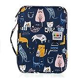 Sumnacon 160 Trousse de crayon, sac de crayon pour l'école et bureau avec Grand capacité (émoticône chat)