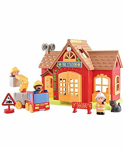 Happyland Nuovo per 2017/2018 Toy Fire station e cifre