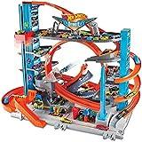 Hot Wheels Garage delle Acrobazie Playset con Pista Connettibile per Macchinine, Loop a Doppia Corsia, Ascensore e Squalo per Stimolare Fantasia dei Bambini, Colore Altro, Norme, FTB69